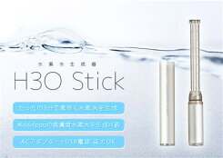 【送料無料】水素水生成器H3Oスティック【水素水スティック送料無料ポケット/水素水生成/H3OStick/45g/電気分解方式/3分で約664ppb/USB/ACアダプター】