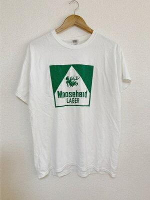 グリーンのトナカイ(MooseheadLAGERTシャツ)【中古】