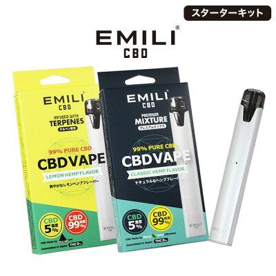 EMILI CBD スターターキット(クラシックヘンプフレーバー)インプレッション