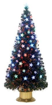 【店舗・イベント用品】【クリスマス】【ツリー・リース】ファイバーツリー・ボール&スター180cm