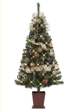 【店舗・イベント用品】【クリスマス】【ツリー・リース】セットツリー・クラシカルシャンパニュ150cm