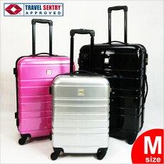 ★TSAロック搭載★中型スーツケース★キャリーケース★鏡面加工★容量59L★3泊〜4泊用