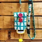 【Pulllu-ぷるる-】シンプル#ひょうたん×チェックキッズ携帯電話カバー携帯電話ケースストラップ