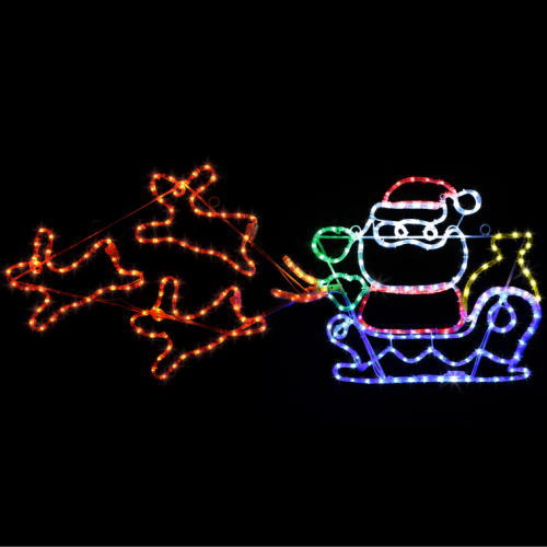LEDチューブライト サンタ&ソリ ★クリスマス イルミネーション