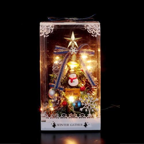 【クリスマス】クリスマステーブルツリー(スノーマン) ミニツリー