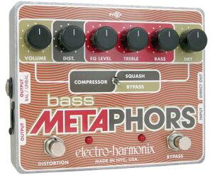 electro-harmonix Bass Metaphors ベース用ディストーション/コンプレッサー/プリアンプ/DI