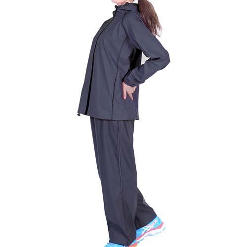 ソフタッチ(softouch) レディース サウナスーツ 上下セット カーボン/カーボン SO-LA200 9292 【女性用 ダイエット シェイプアップ】