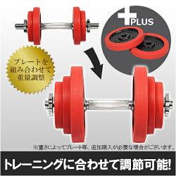 リーディングエッジラバーダンベル20kg単品レッドLE-DB20
