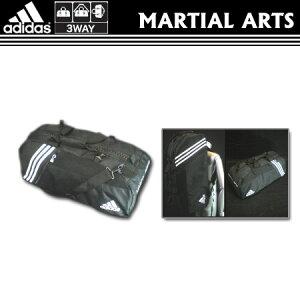 adidas(アディダス) 3WAY スポーツバック 黒(M) ACC050M 【武道 マーシャルアーツ 部活 遠征 カバン バッグ】