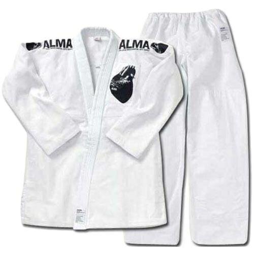 アルマ(ALMA) 海外製柔術着 A1 白 上下セット 白帯付 JU2-A1-WH 【柔術衣/格闘技/上...