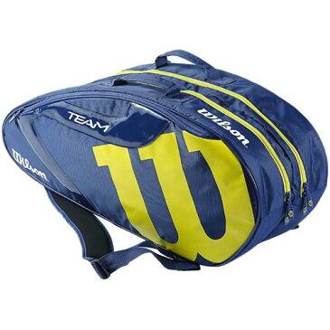 ウイルソン Wilson テニスバッグ チーム TEAM JP 6 PACK ネイビー/ライム WR8000601001