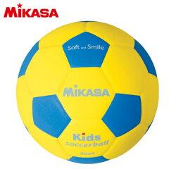 MIKASA(ミカサ)キッズサッカー軽量4号球青/黄SF4-YBL【EVA素材ジュニア】