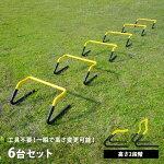高さ調節可!リーディングエッジトレーニングハードル6個セットESTH-030【部活動練習器具アジリティスピードトレーニングラダートレーニング】【espb】