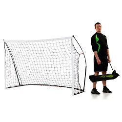 クイックプレイポータブルサッカーゴール2.4m×1.5m2台セット【組み立て式サッカーゴールフットサル室内兼用】【espb】