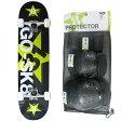 ゴースケート(GOSK8) スケートボード ブラック/ライム ジュニア コンプリート+プロテクター Sサイズ 3点 16set GOSK8-31 PT30 【子供 スケボー】