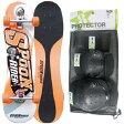 【送料無料】スプーンライダー(SPOON RIDER) ジュニア スケートボード 30インチ+プロテクター3点セット XSサイズ オレンジ 【子供】 【GSKB】