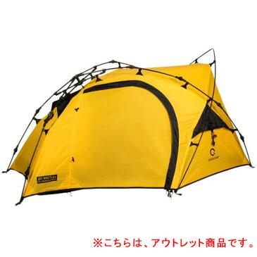 クイックキャンプ ツーリングテント 1人用 バイク積載対応 軽量アルミポール製 ワンタッチテント ソロテント QC-BEETLE1