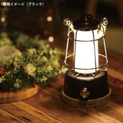 クイックキャンプQUICKCAMPアンティーク風LEDランタンメノーラQC-LED370ブラックキャンプアウトドアインテリア暖色LEDランタン充電式