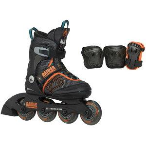 ケーツー レイダー ジュニア インライン スケート ブラック オレンジ ローラースケート