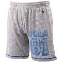チャンピオン(Champion) UCLA CH メッシュ ショートパンツ CP160H シルバーH 【在庫限定 バスケットボール カレッジ カジュアル ハーフパンツ】