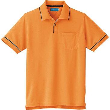 クロダルマ KURODARUMA 半袖ポロシャツ オレンジ 26621 メンズ レディース