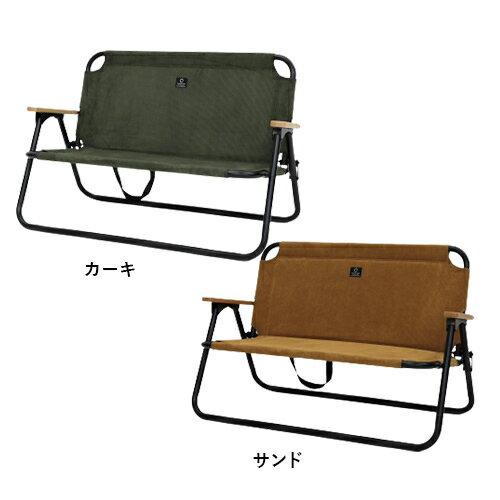 二人掛け 折りたたみベンチ コーデュロイ/クイックキャンプ(QUICKCAMP)