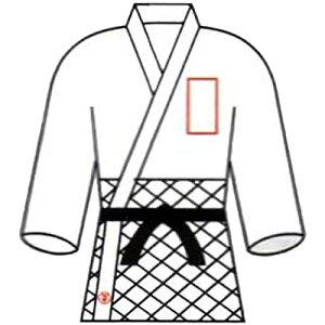 九櫻 クサクラ 柔道衣胸ネーム刺繍 5文字 NM5
