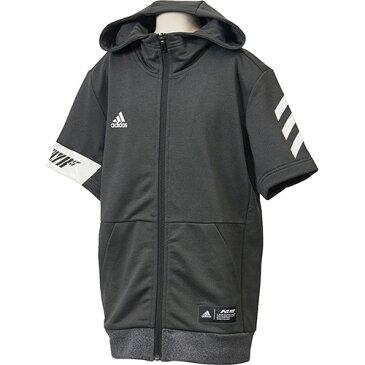 アディダス adidas ジュニア 野球 半袖パーカー 5T S/S スウェット Jr ブラック FTJ03 DU9570 キッズ