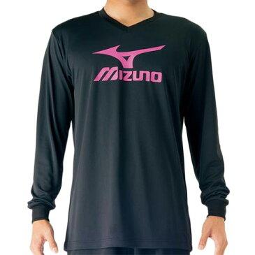 ミズノ MIZUNO プラクティスシャツ ブラック×ルミナスピンク V2MA709797