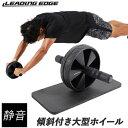 LEADINGEDGE リーディングエッジ 腹筋ローラー マット付き セット 静音タイプ アブホイール 腹筋 トレーニング器具 LE-AB02