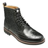 【Clarks(クラークス)】英国製ハリスツィード使用・MONTACUTE LORD(モンタキュートロード)・901C(ブラックコンビ) 20351789/メンズ 靴