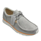 【Clarks(クラークス)】ワラビータイプの軽量カジュアルシューズ TAWYER LO(トゥヤー ロー)・366E(グレースエード)26107481/メンズ 靴