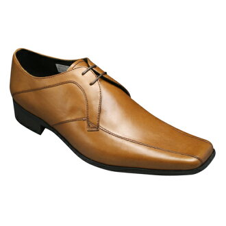Hamnett and leather business shoes ( スワールモカ ) KH3908 (Brown)