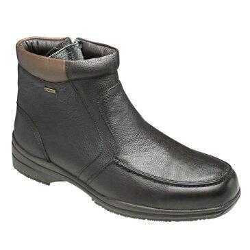 【madras Walk(マドラス ウォーク) 】4E幅広・GORE-TEX(ゴアテックス)の多機能ショートブーツ(ラウンドトゥ)・SPMW5476(ブラウン)/メンズ 靴