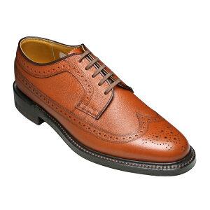 【REGAL (リーガル)】牛革(革底)ビジネスシューズ(EBサイズ)・ウイングチップ・2235EB(ブラウン)/メンズ 靴