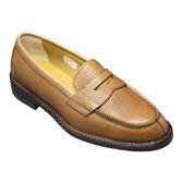 【REGAL(リーガル)】スコッチ型押しのビジネスシューズ(ローファー)・2640(スコッチブラウン)/メンズ 靴