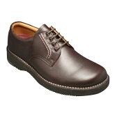 【REGAL WALKER (リーガル ウォーカー )】快適歩行の機能満載!3E幅広のビジネスウォーキングシューズ・JJ23(プレーントゥ)・ダークブラウン/メンズ 靴