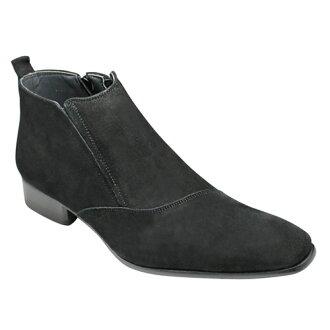 有機的線是魅力的牛皮長筒靴(單側潮流)、SB7777(黑色反毛皮革)/人鞋