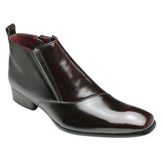 有機的線是有吸引力的皮靴 (一側流),SB7777 (深棕色)