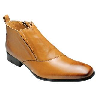 有機線條的魅力皮靴 (一側流),SB7777 (褐) 色
