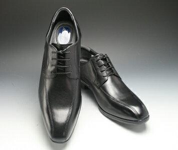 【WALKERS-MATE BINSOKU(ウォーカーズ メイト ビンソク)】ロングノーズの多機能牛革ビジネスシューズ(スワールモカ)・BW9503(ブラック)/メンズ 靴