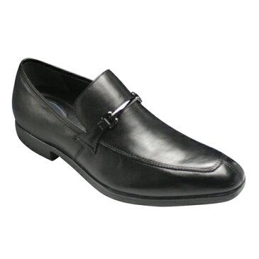 【WALKERS-MATE BINSOKU(ウォーカーズ メイト ビンソク)】ロングノーズの多機能牛革ビジネスシューズ(ビット)・BW9505(ブラック)/メンズ 靴