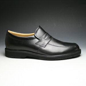 【WALKERS-MATE(ウォーカーズ・メイト)】牛革多機能コンフォートビジネスシューズ・(ローファー)MW6800(ブラック)/メンズ 靴