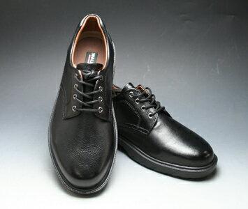 【WALKERS-MATE(ウォーカーズ・メイト)】牛革多機能コンフォートビジネスシューズ・レース(プレーントゥ)MW8800(ブラック)/メンズ 靴
