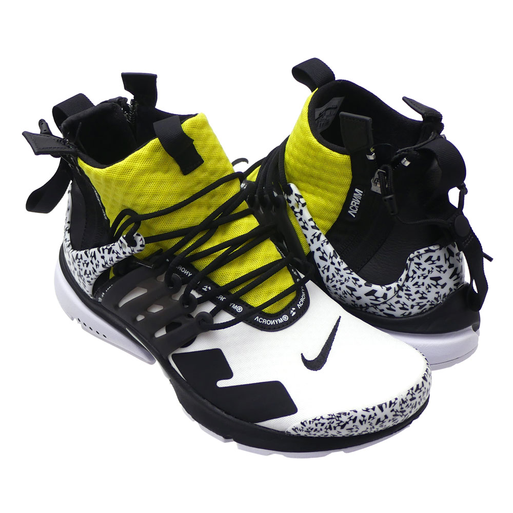 メンズ靴, スニーカー  NIKE x ACRONYM AIR PRESTO MIDACRONYM WHITEBLACKDYNAMIC YELLOW AH7832100 291002483280