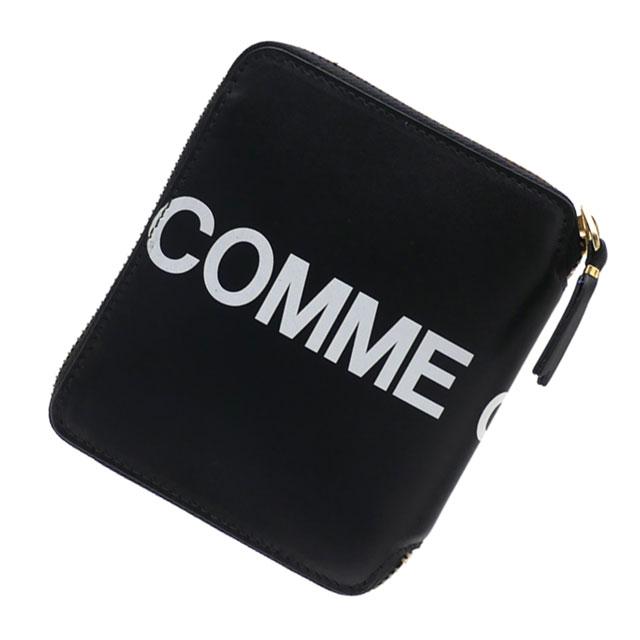 財布・ケース, メンズ財布  COMME des GARCONS Huge Logo Bi-fold Wallet BLACK 271000395011