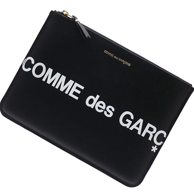 男女兼用バッグ, その他  COMME des GARCONS Huge Logo Pouch BLACK 288001196011