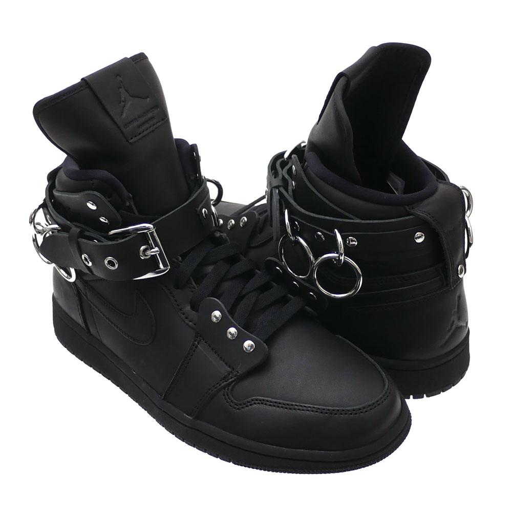 メンズ靴, スニーカー 115() 20:00 COMME des GARCONS HOMME PLUS x NIKE AIR JORDAN 1 HI STRAP SP-C BLACK