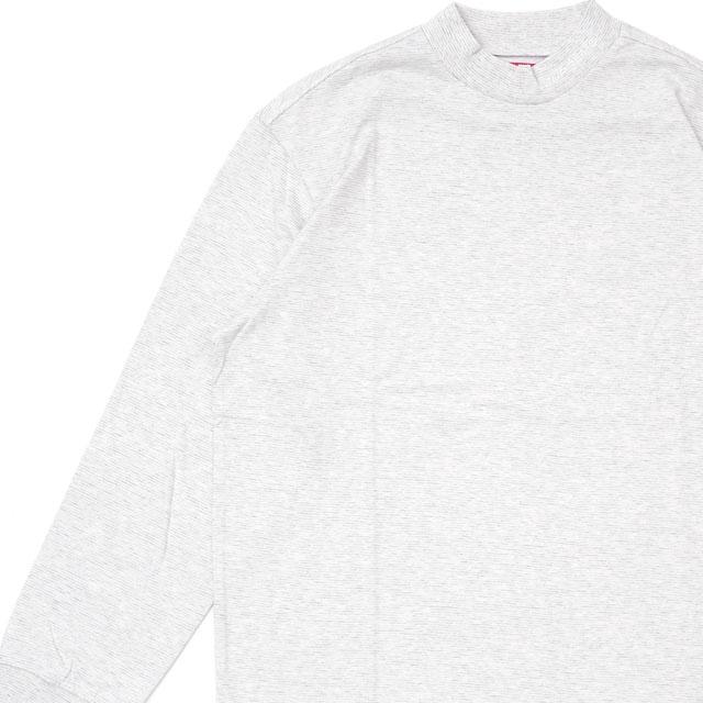 トップス, Tシャツ・カットソー  SUPREME Micro Stripe Mock Neck T OFF-WHITE