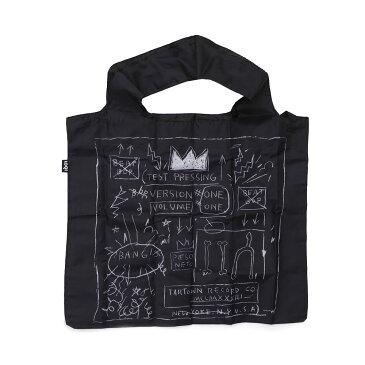 ジャン ミシェル バスキア Jean-Michel Basquiat x ローキー LOQI Crown Bag エコ トートバッグ BLACK ブラック メンズ レディース